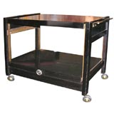 2-Tier Serving Cart with Ascending Lower Tier by Brown Saltman
