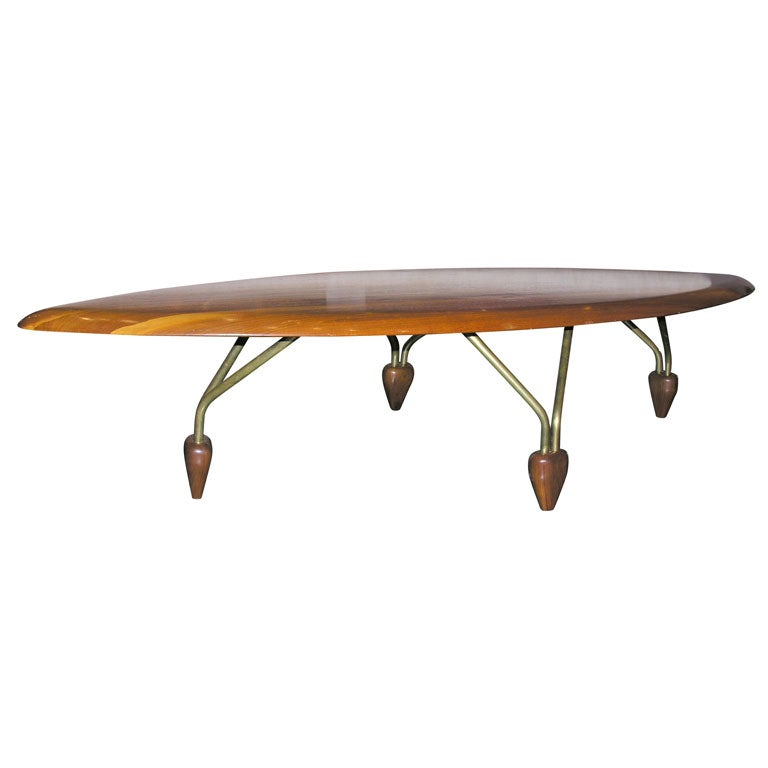 Surfboard Coffee Table Attributed To Allan Gould At 1stdibs