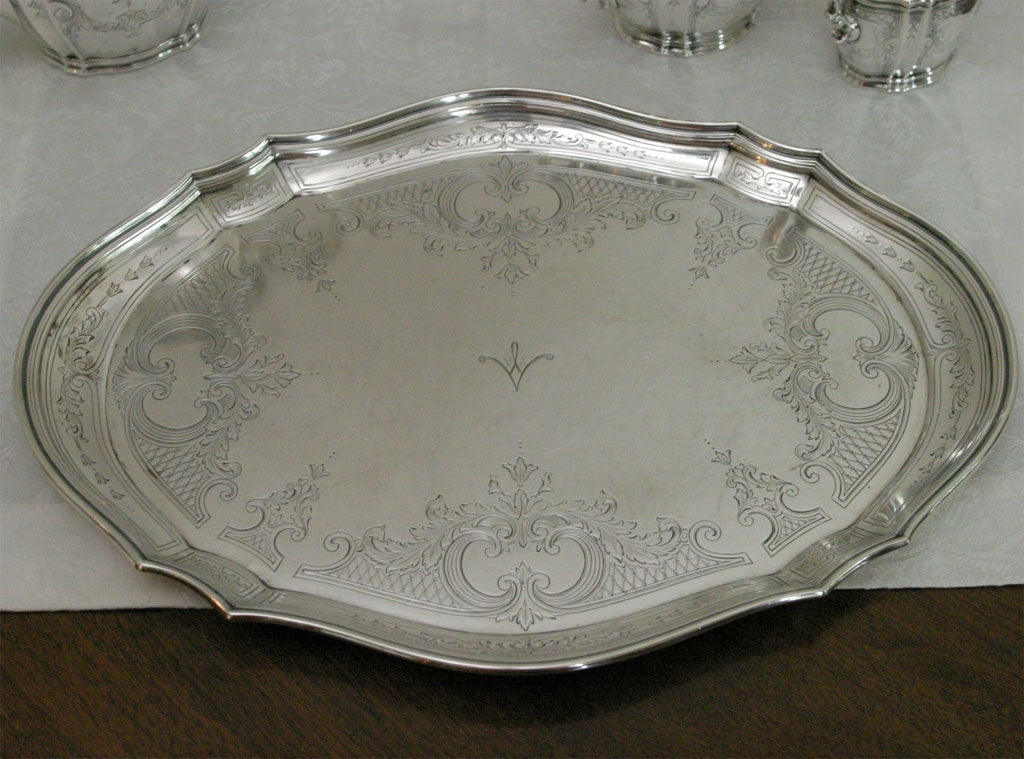 Tiffany And Company Sterling Silver Tea Set On Tray At 1stdibs