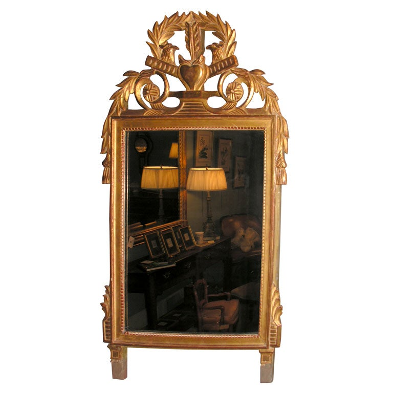 French Giltwood Louis XVI Style Mirror