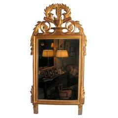 French Giltwood Louis XVI Style Mirror