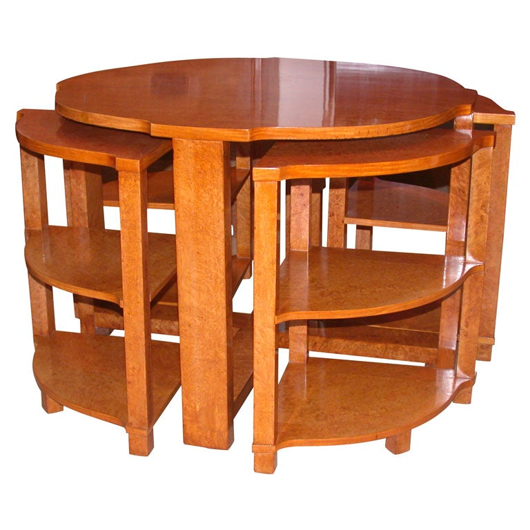 The epstein quatretto table 1930 39 s art deco coffee table by h l epstein at 1stdibs - Epstein art deco furniture ...