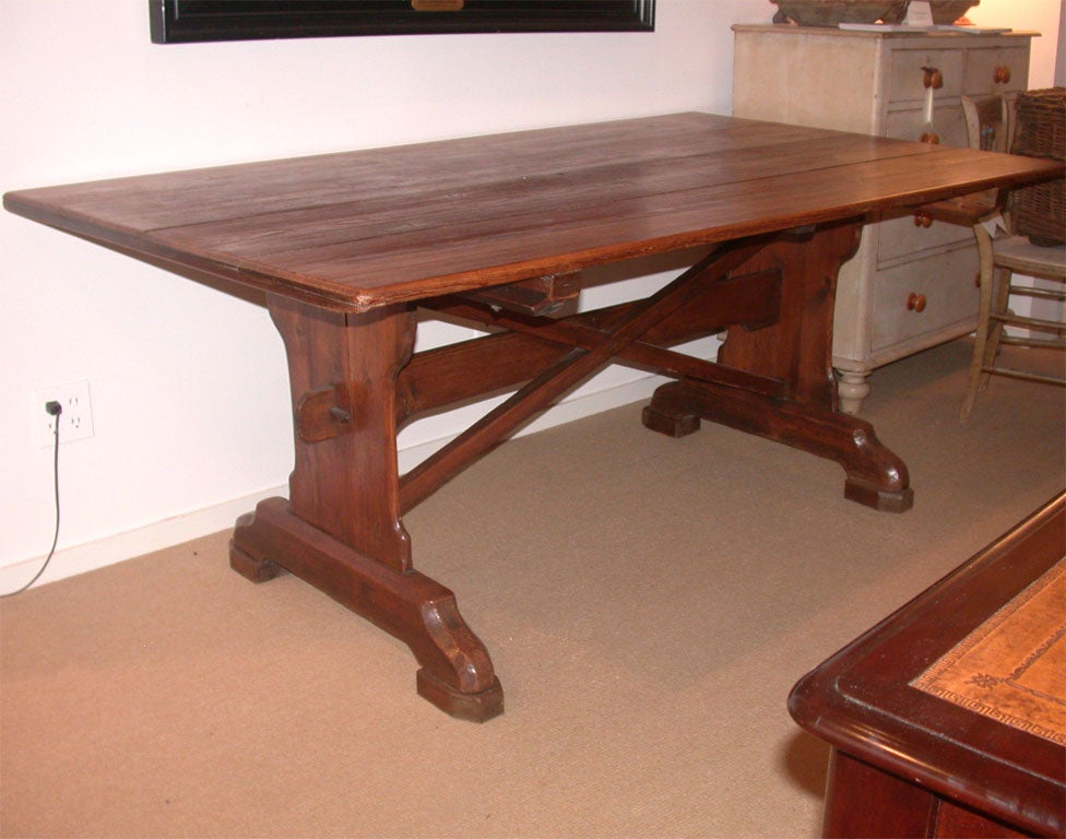 19th Century English Pine Trestle Dining Table at 1stdibs : DSCN1566 from www.1stdibs.com size 976 x 768 jpeg 98kB