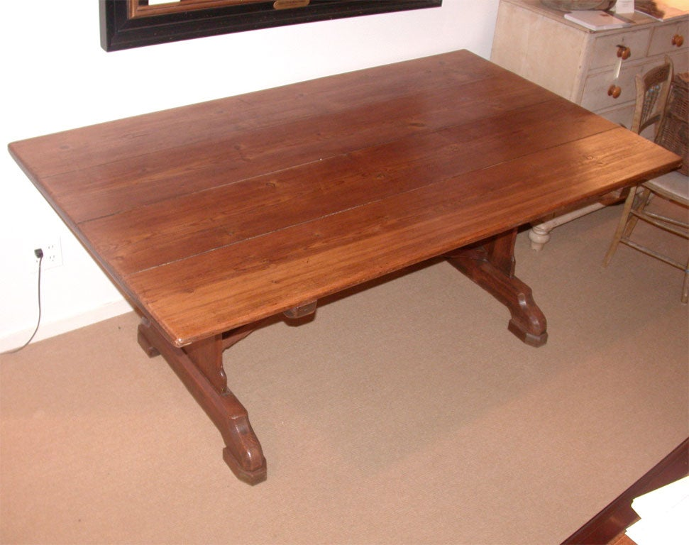 19th Century English Pine Trestle Dining Table at 1stdibs : DSCN1570 from www.1stdibs.com size 971 x 768 jpeg 89kB