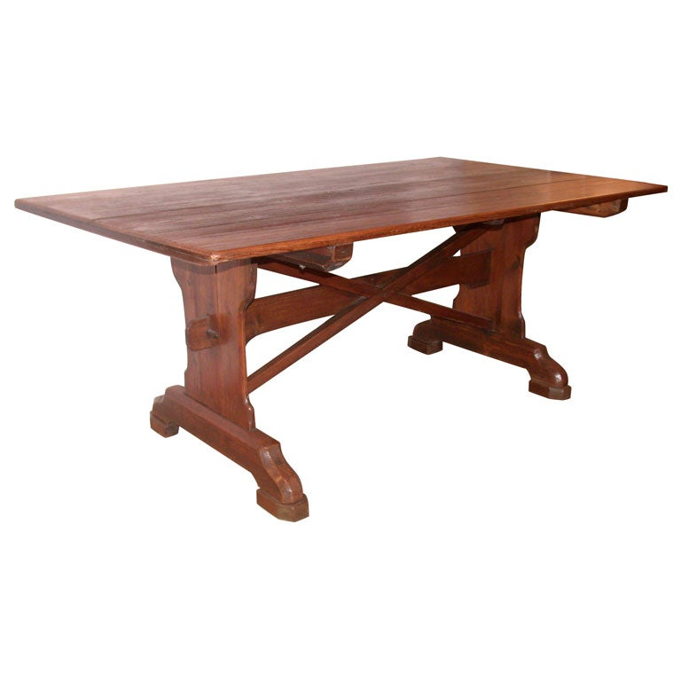 19th Century English Pine Trestle Dining Table at 1stdibs : xDSCN1569 from www.1stdibs.com size 768 x 768 jpeg 32kB