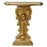 19th Century Carved Wood Tall Console Table