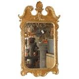 Mid 20th Cen. Italian Carved & Parcel Gilt Georgian-Style Mirror