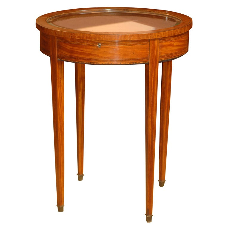 Oval vitrine table at 1stdibs for Table vitrine
