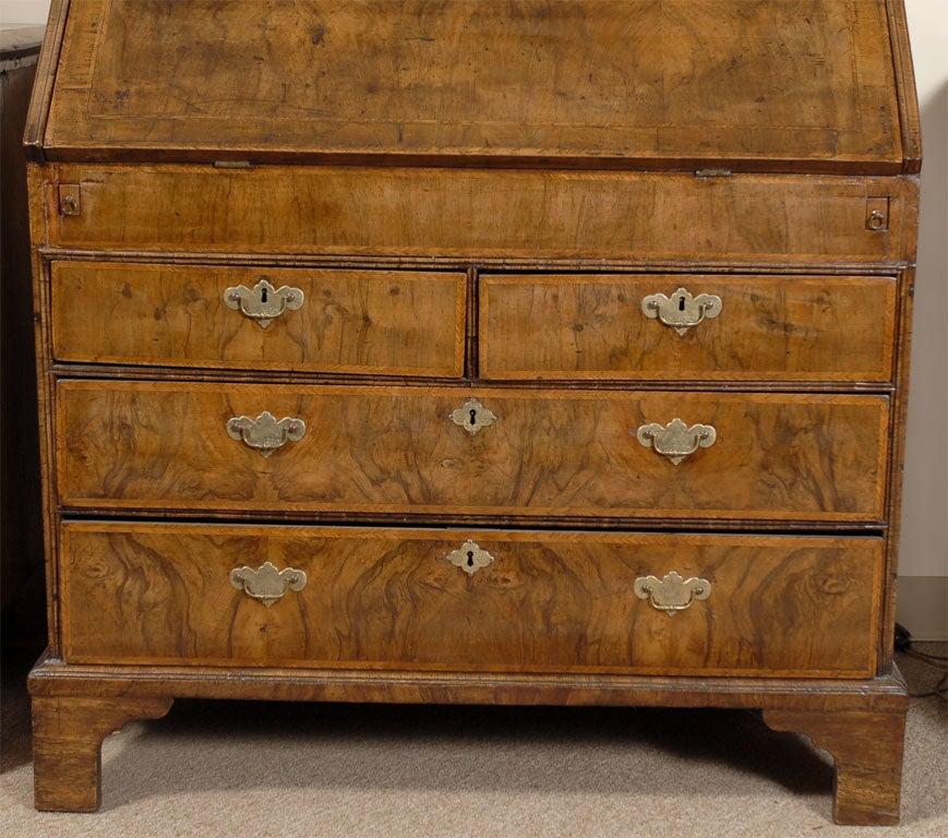 queen anne bureau bookcase in inlaid walnut c 1710 at 1stdibs. Black Bedroom Furniture Sets. Home Design Ideas