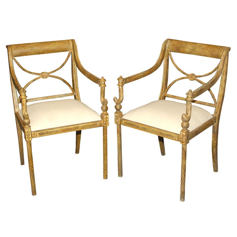 Regency Style Garden Chairs At 1stdibs