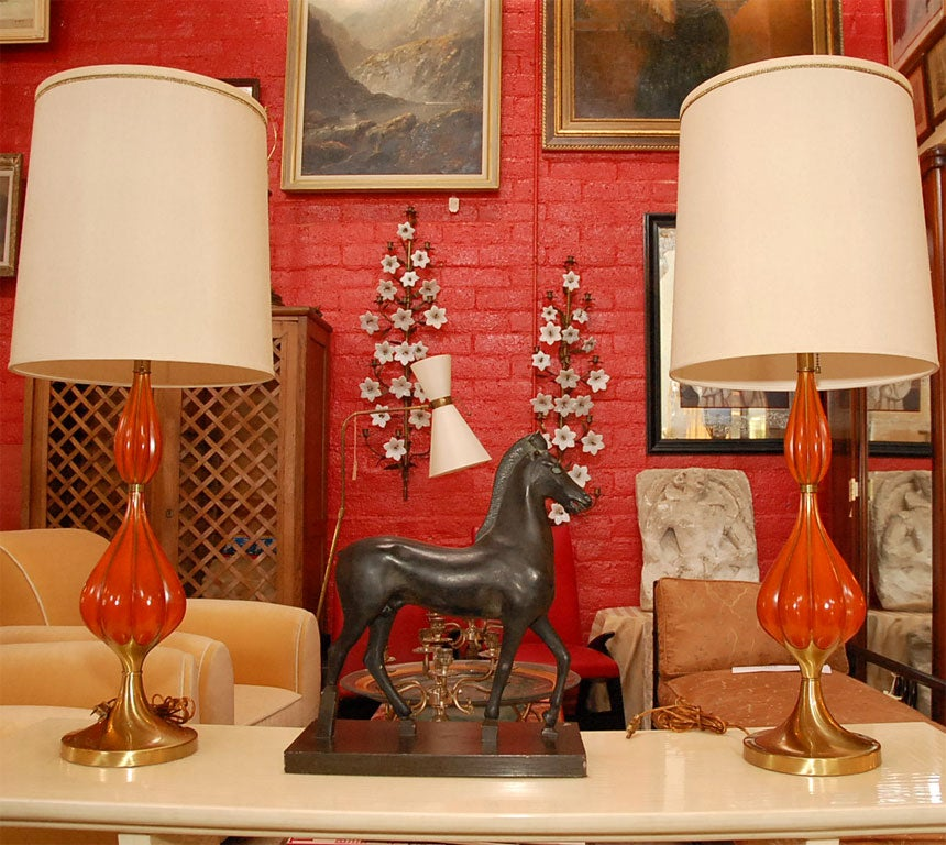 Mid-Century Modern Terracotta Horse Sculpture For Sale