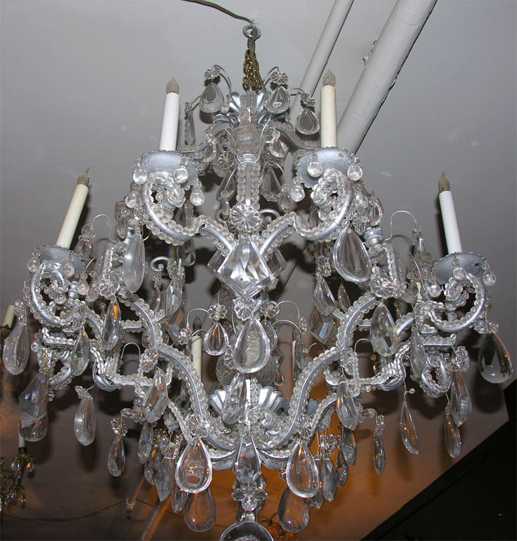 Neoclassic Eight Lite Crystal Chandelier For Sale At 1stdibs