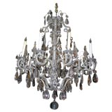 Neoclassic Eight-Lite Crystal Chandelier