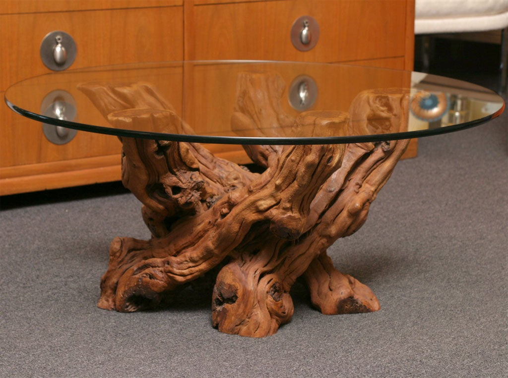Dramatic organic knarled vine coffee table at 1stdibs for Table and vine