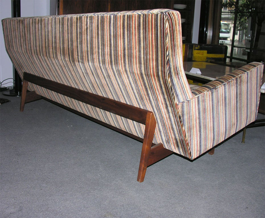 Upholstery Three-Seat Sofa by Jens Risom For Sale