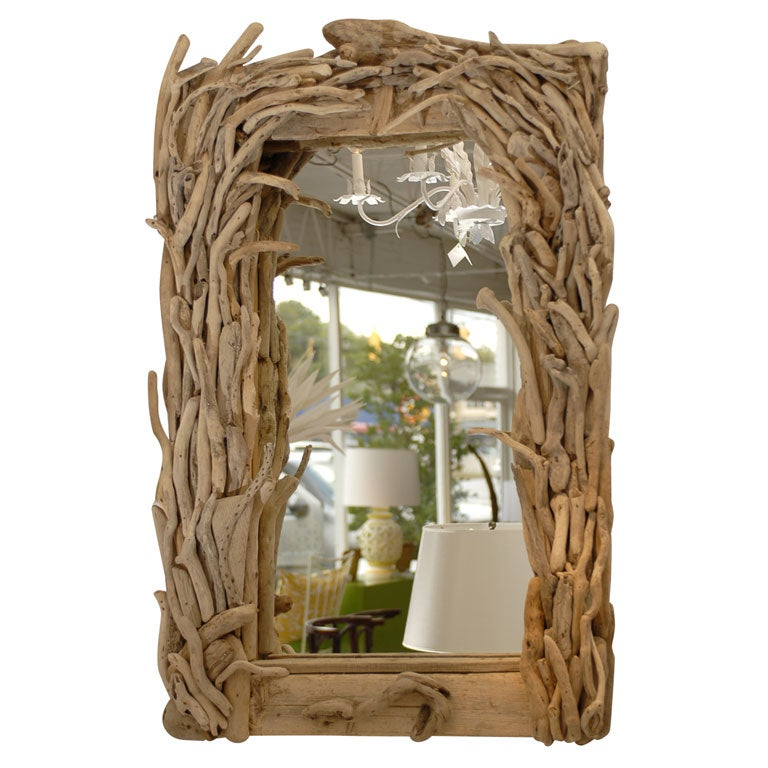 Driftwood Mirror At 1stdibs