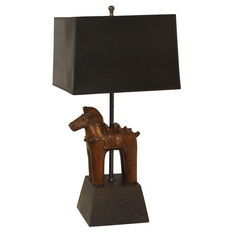 Vintage Wood Horse Lamp At 1stdibs