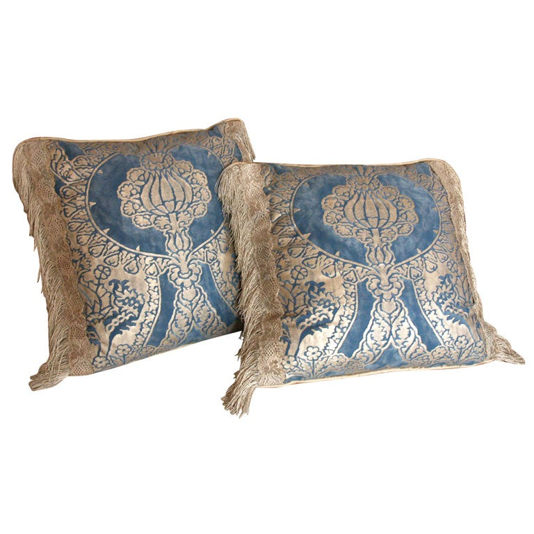 Pair Of Fortuny Pillows At 1stdibs