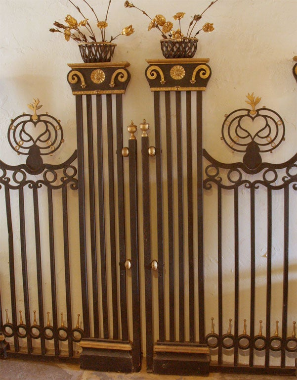 Pair of 19th Century Belgian Carved Wood Decorative Grills with Gilded Details In Good Condition For Sale In New Orleans, LA