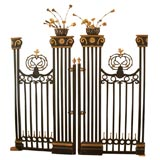 Pair of 19th Century Belgian Carved Wood Decorative Grills with Gilded Details