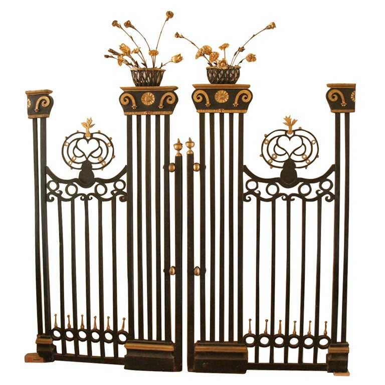 Pair of 19th Century Belgian Carved Wood Decorative Grills with Gilded Details For Sale