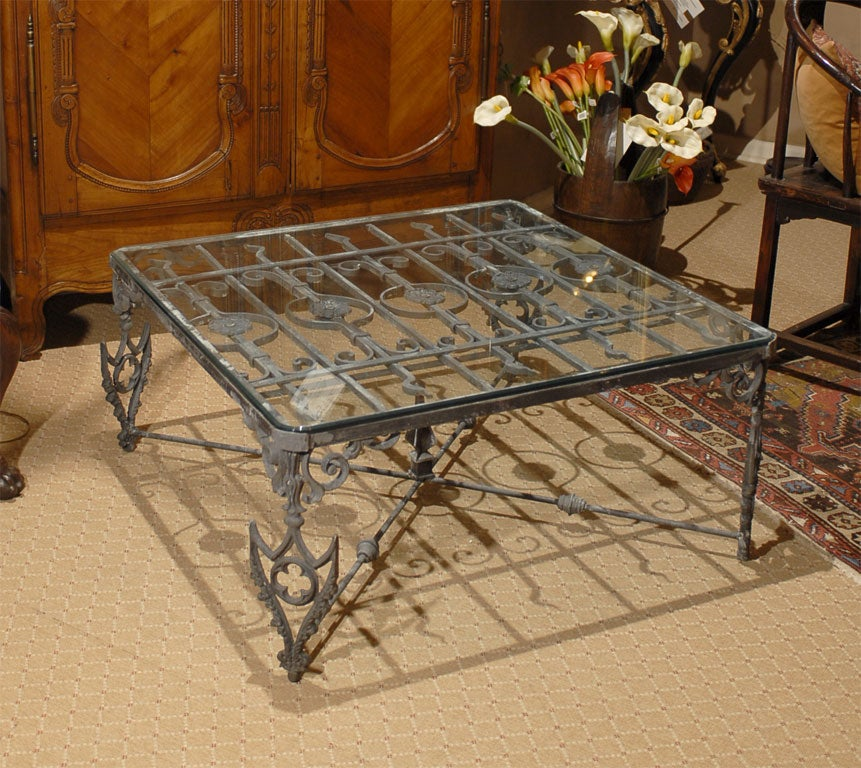 Attrayant 19th Century French Gate Made Into Contemporary Coffee Table. Base Has Been  Remade From Antique