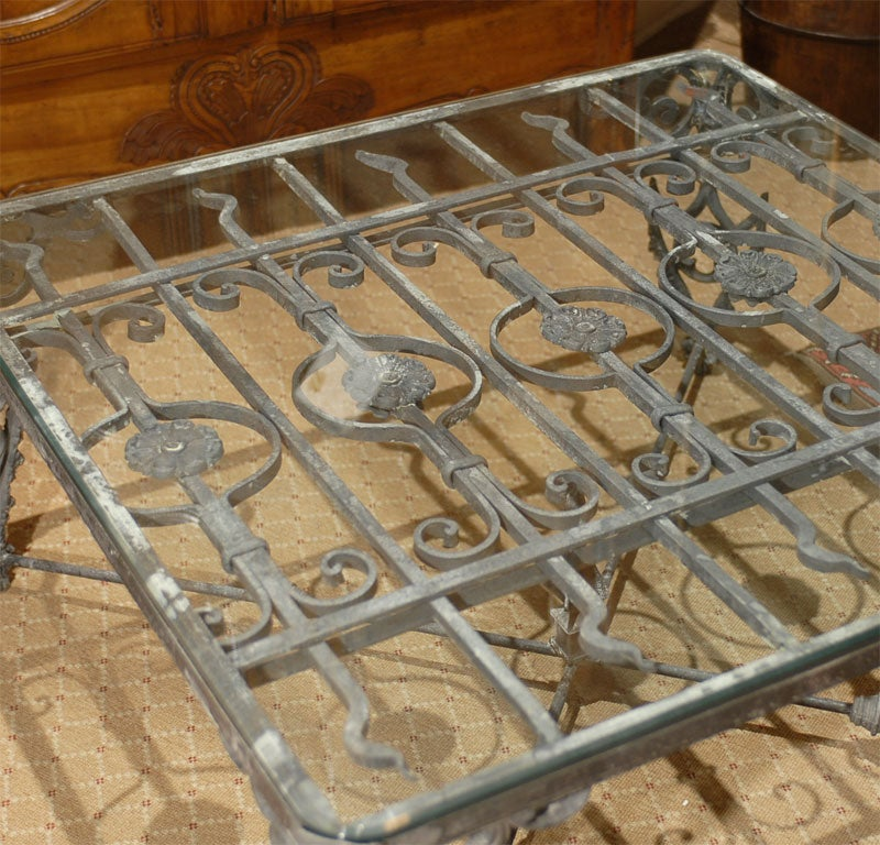 Antique Iron Gate Made Into Coffee Table 3