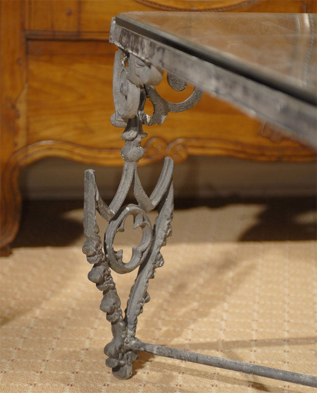 antique iron gate made into coffee table at 1stdibs