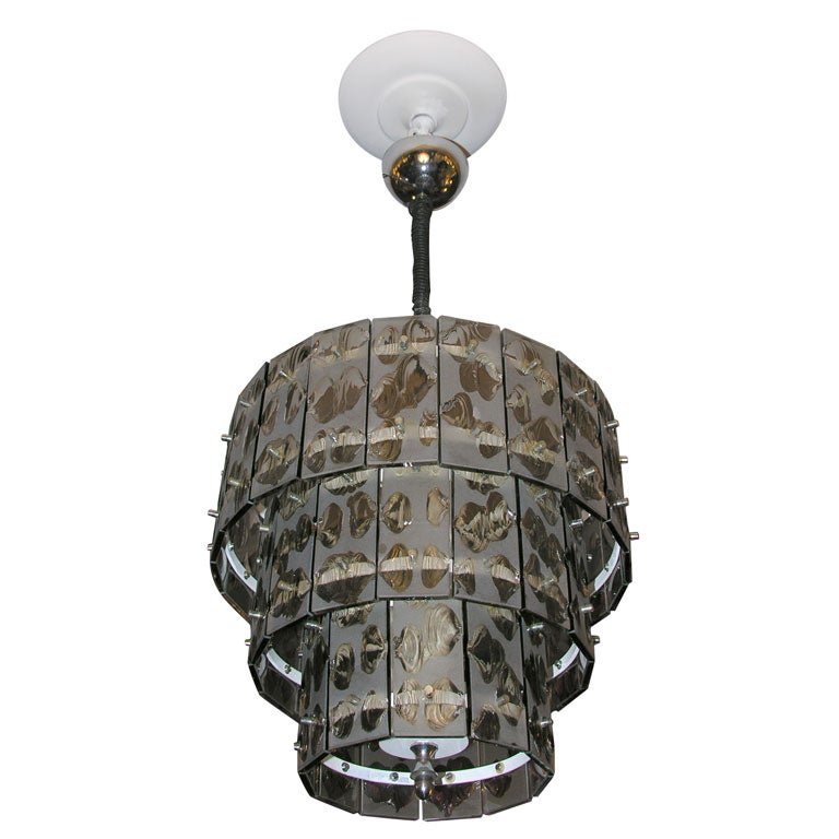fontana arte smoke light chandelier at 1stdibs. Black Bedroom Furniture Sets. Home Design Ideas