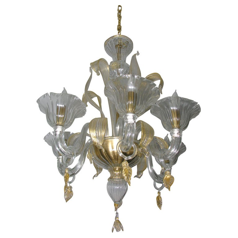cristallo venetian glass chandelier for sale at 1stdibs. Black Bedroom Furniture Sets. Home Design Ideas
