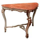 18TH CENTURY ITALIAN LOUIS XV PAINTED CONSOLE TABLE