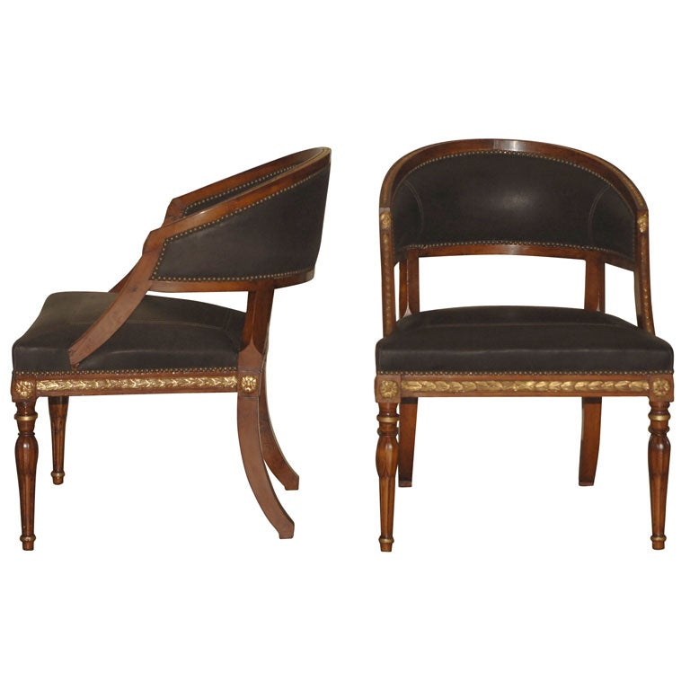 Pair Of Gustavian Tub Chairs At 1stdibs