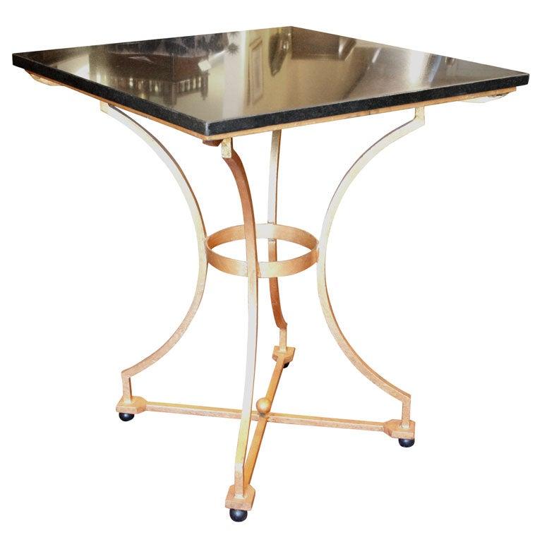 Gilt Iron Side Table At 1stdibs