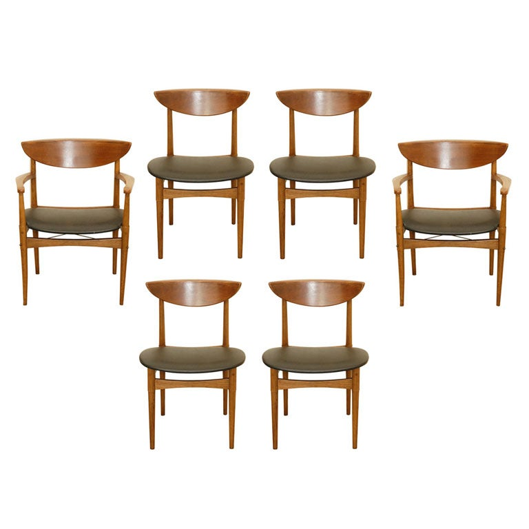 Alan Gould For Lane Dining Chairs At 1stdibs