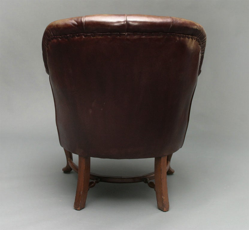 English Small Leather Club Chair at 1stdibs