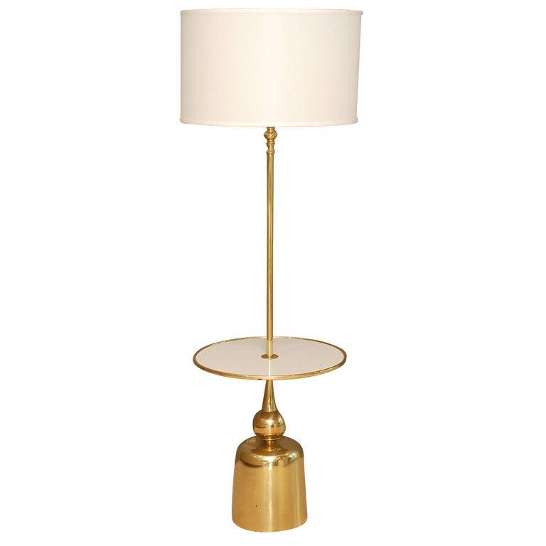 Spun brass floor lamp at 1stdibs for Reeded brass floor lamp