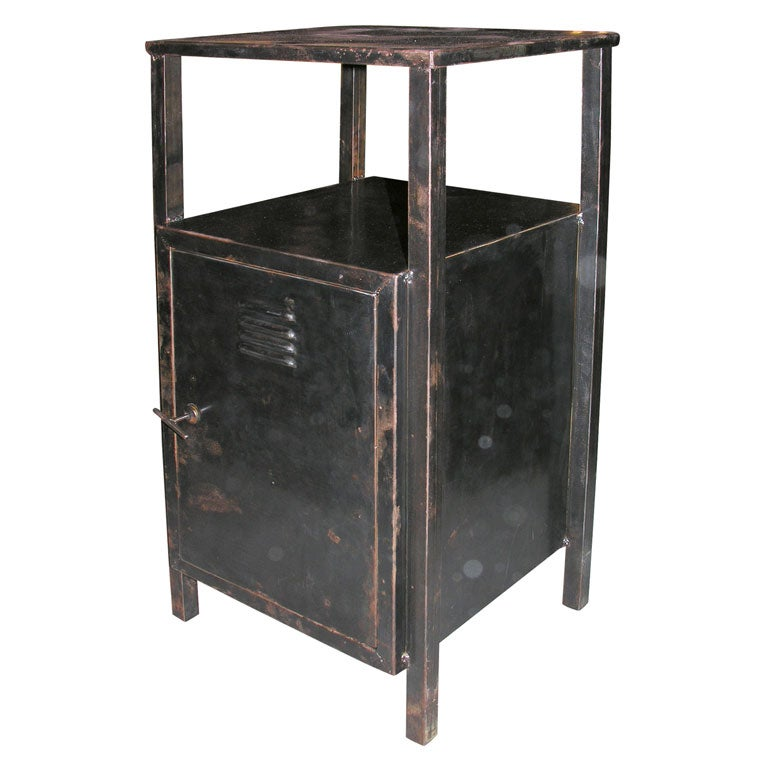 Industrial Metal Nightstand At 1stdibs