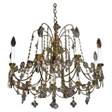 """Sabrina"" Chandelier with Glittering Crystals"