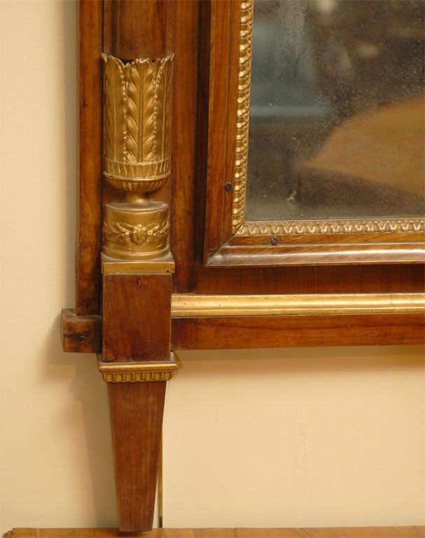 Empire Period Parcel-Gilt and Cherry Mirror, circa 1810 In Good Condition For Sale In Atlanta, GA