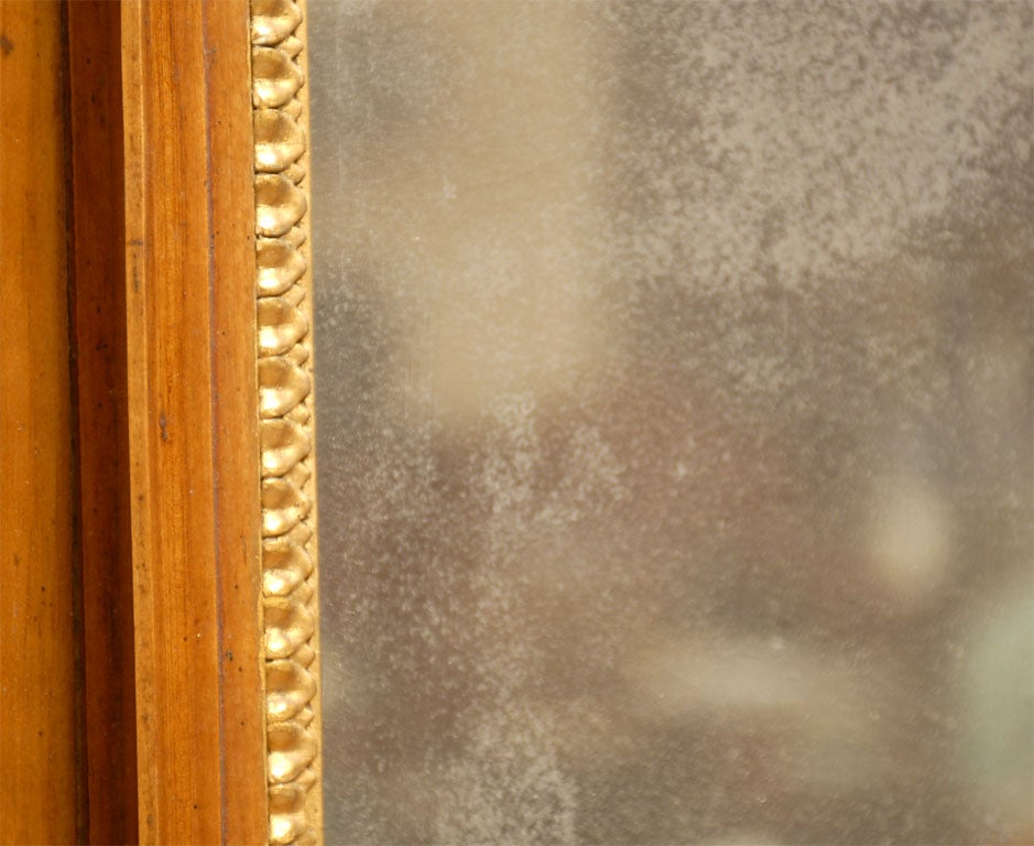 Empire Period Parcel-Gilt and Cherry Mirror, circa 1810 For Sale 1