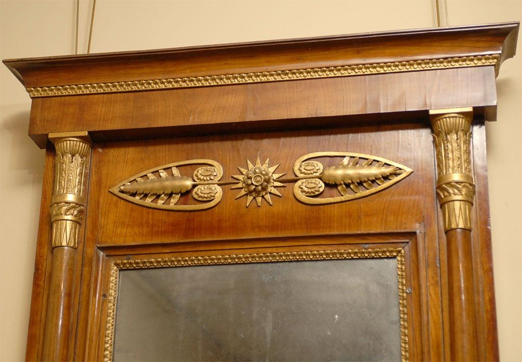 Empire Period Parcel-Gilt and Cherry Mirror, circa 1810 For Sale 2