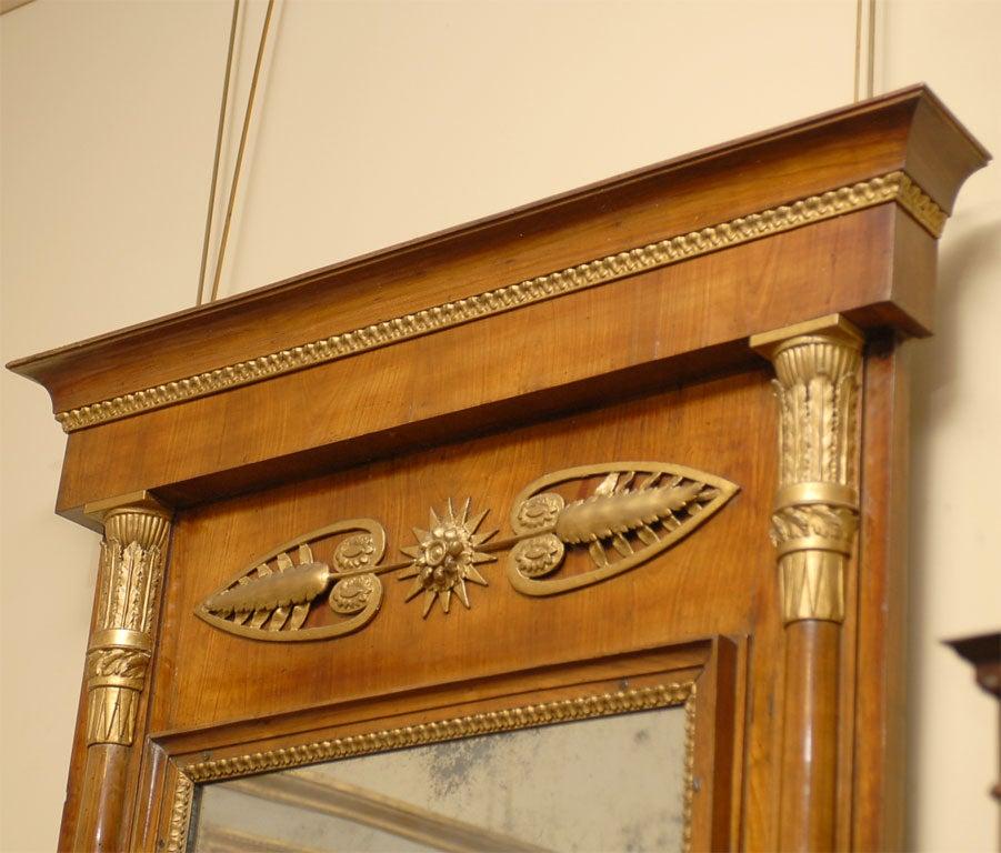 Empire Period Parcel-Gilt and Cherry Mirror, circa 1810 For Sale 4