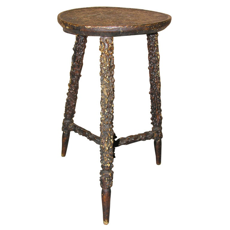 An English 19th C Rustic Quot Twig Quot Stool At 1stdibs