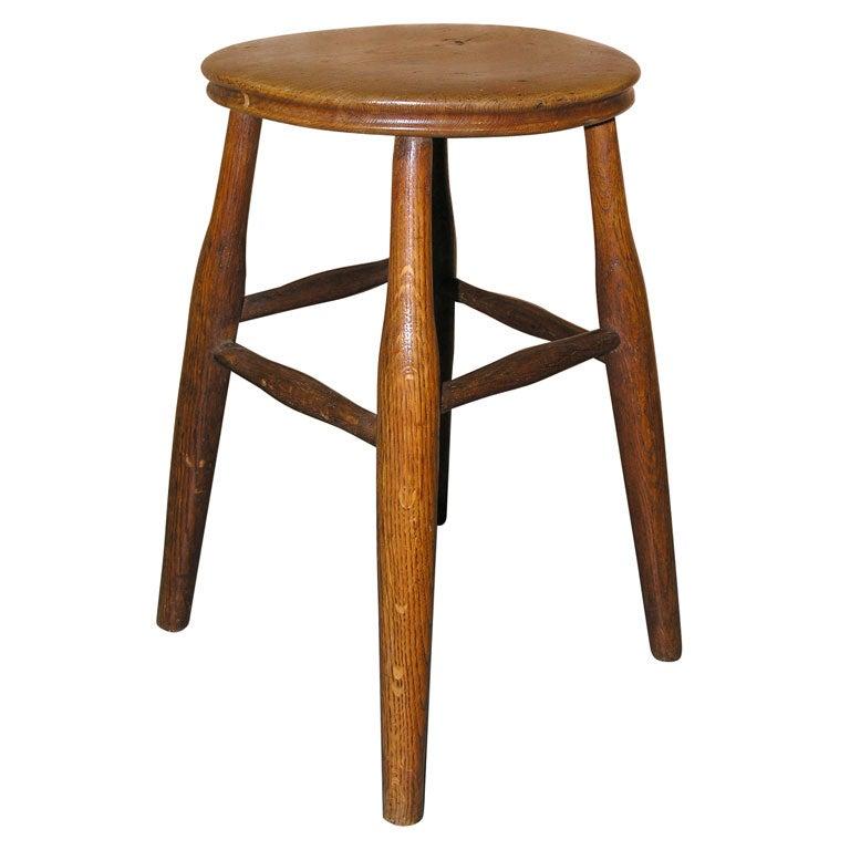 4 Legged Stool ~ English early th c elm four legged stool at stdibs