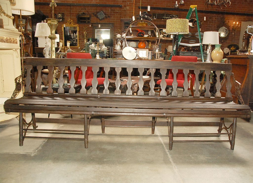 Folding Railway Station Bench at 1stdibs