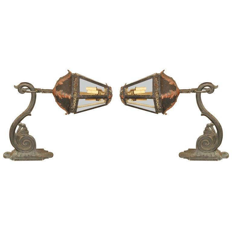 19 Th Century Pair Of French Lanterns At 1stdibs