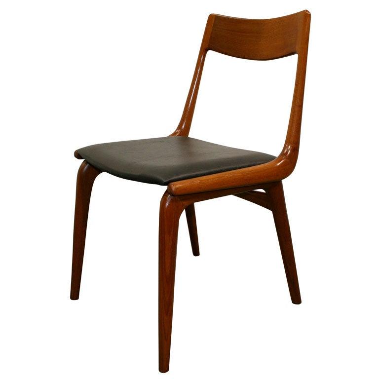 Set of Six Teak Boomerang Dining Chairs at 1stdibs