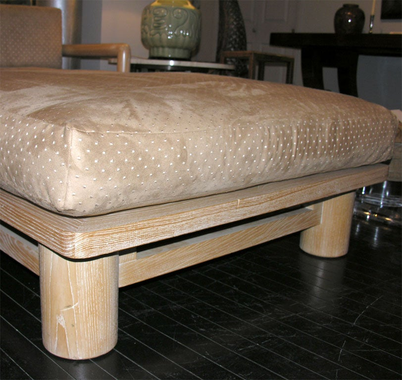 Quot Dowelwood Chaise Quot Designed By Karl Springer At 1stdibs