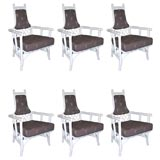 Set of 6 Lacquered Dining Chairs designed by Tommi Parzinger