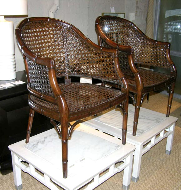 Pair Of Faux Bamboo Chairs By Michael Taylor At 1stdibs